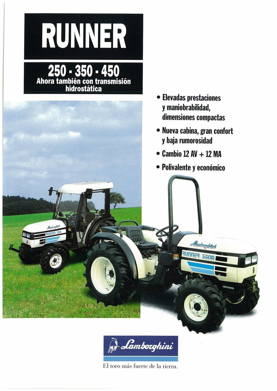 RUNNER 250-350-450 Ahora tambièn con transmisiòn hidrostàtica