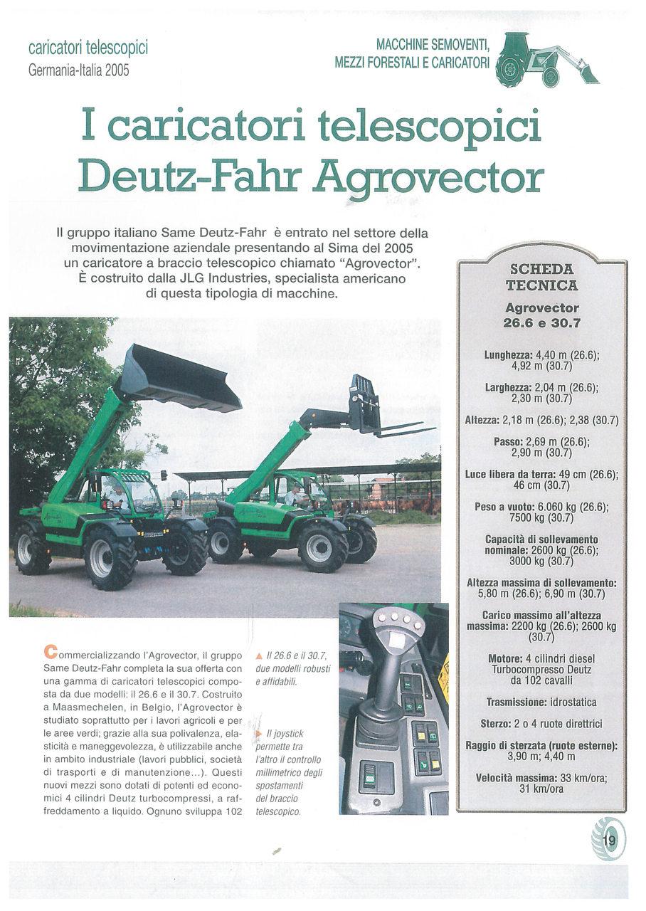 I caricatori telescopici Deutz-Fahr Agrovector