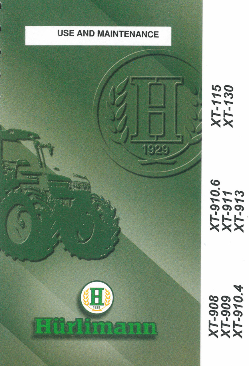 XT 908 - 909 - 910.4 - 910.6 - 911 - 913 - 115 - 130 - Use and maintenance