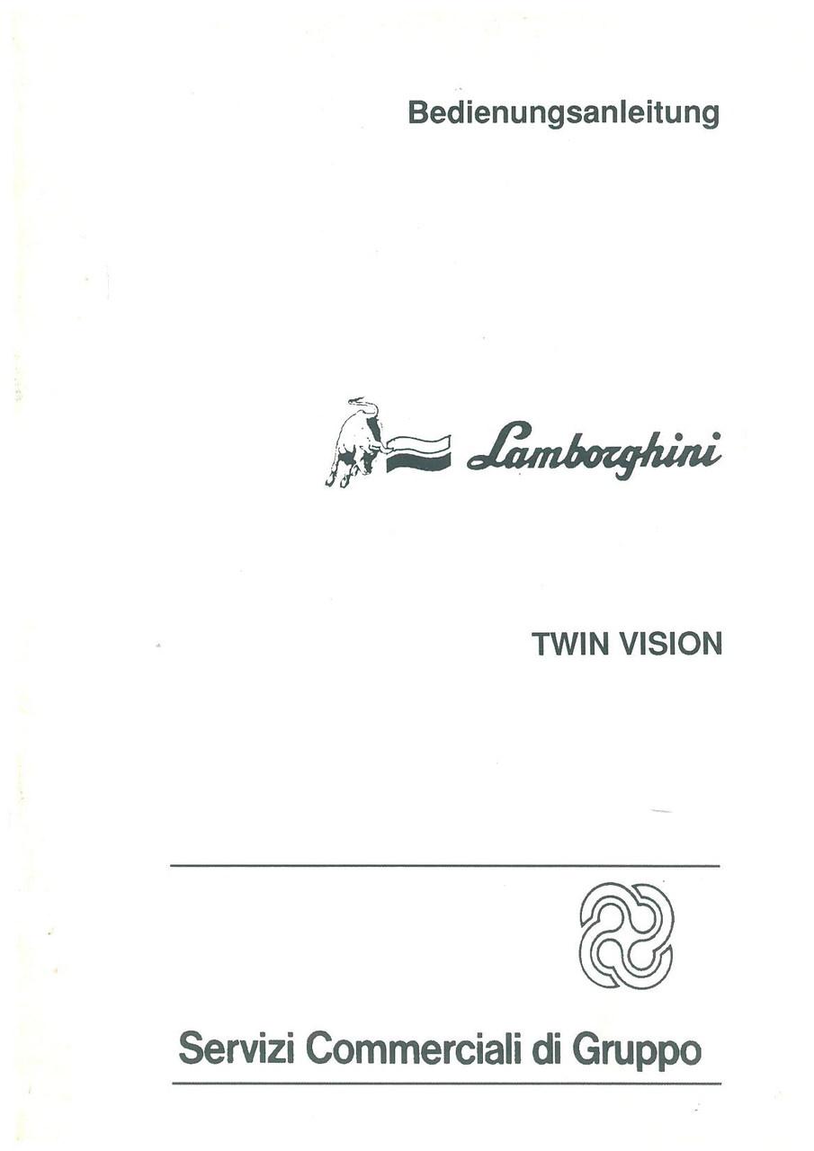 TWIN VISION - Bedienung und Wartung