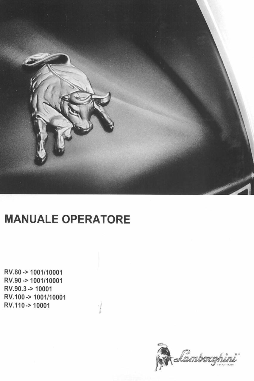 RV.80 ->1001/10001 - RV.90 ->1001/10001 - RV.90.3 ->10001 - RV.100 ->1001/10001 - RV.110 ->10001 - Manuale operatore