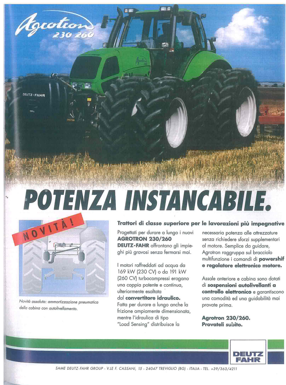 Potenza instancabile - AGROTRON 230 - 260