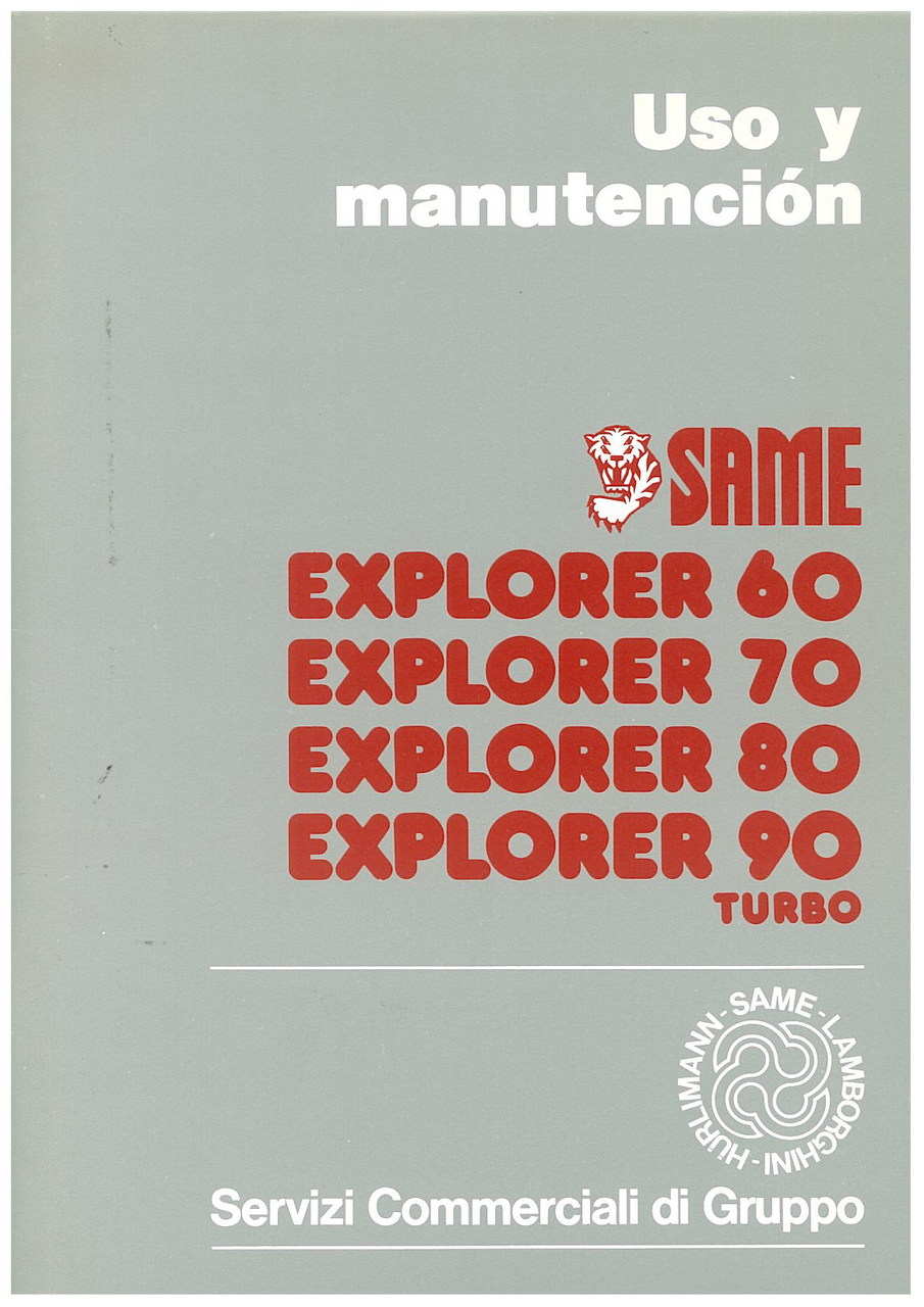 EXPLORER 60 - 70 - 80 - 90 TURBO - Uso y manutencion