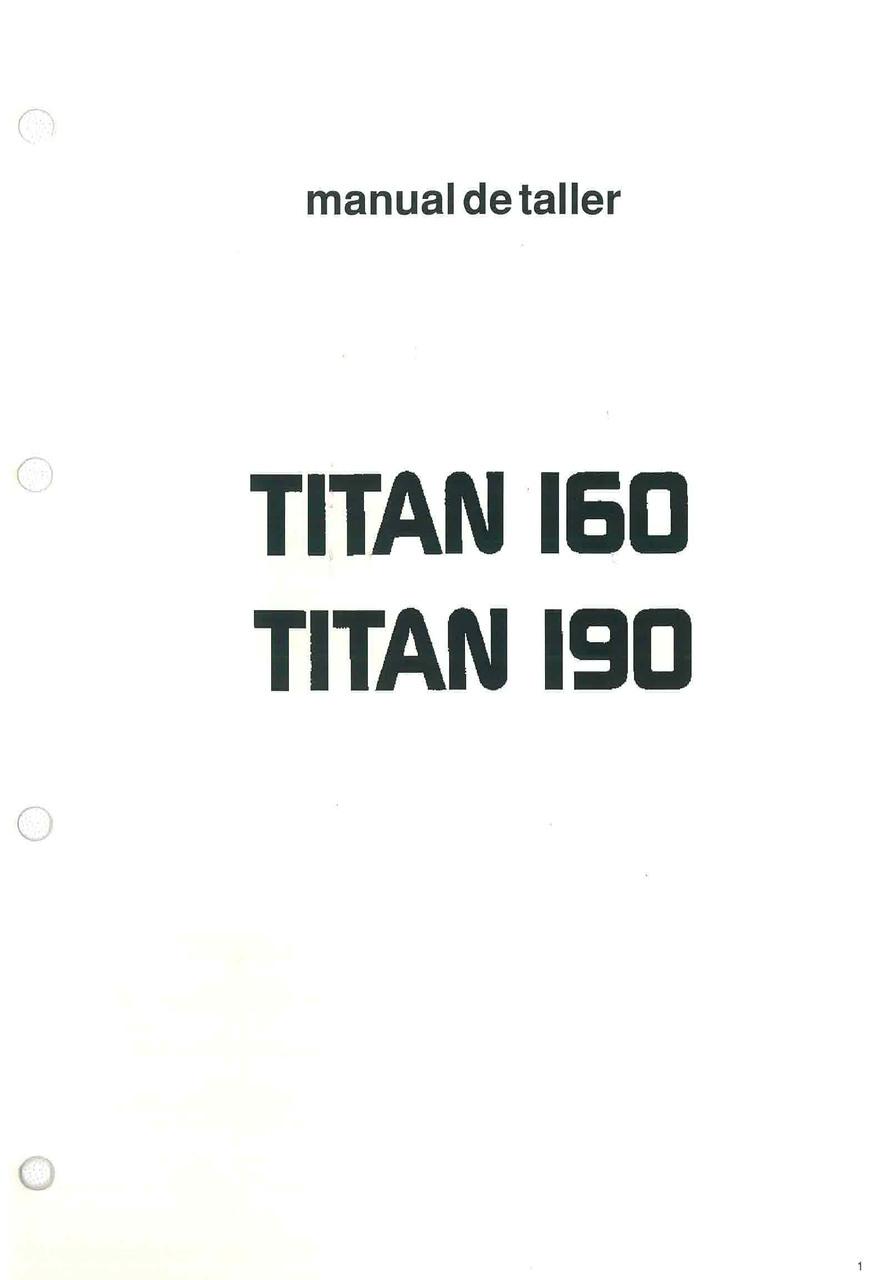 TITAN 160 - 190 - Manual de Taller