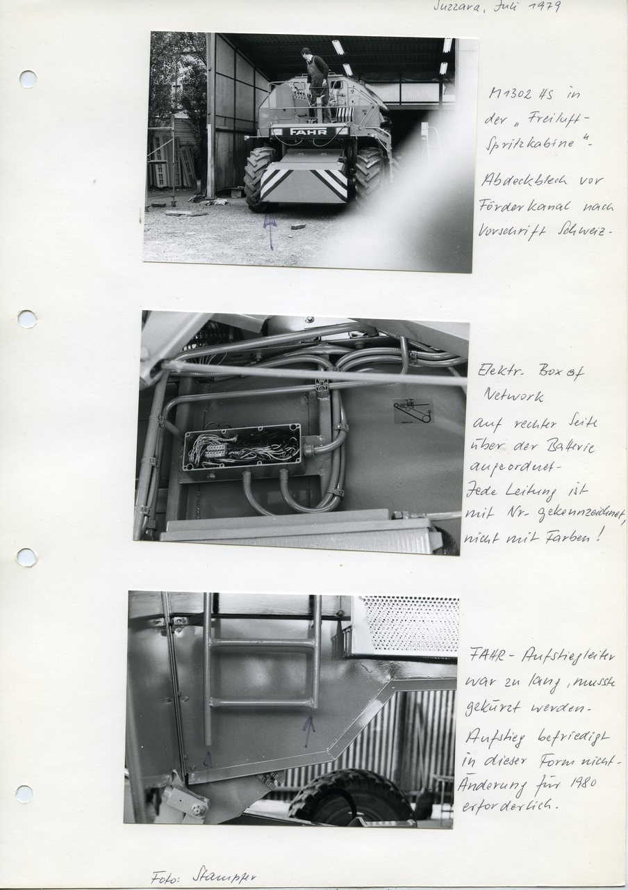 "[Fahr] M 1302 HS e particolari, ""Suzzara, Juli 1979"""