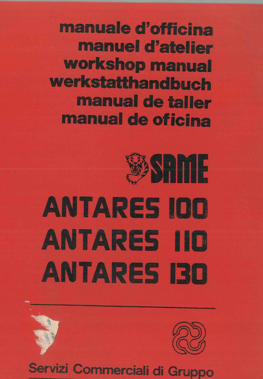 ANTARES 100 -110 -130 - Manuale d'officina