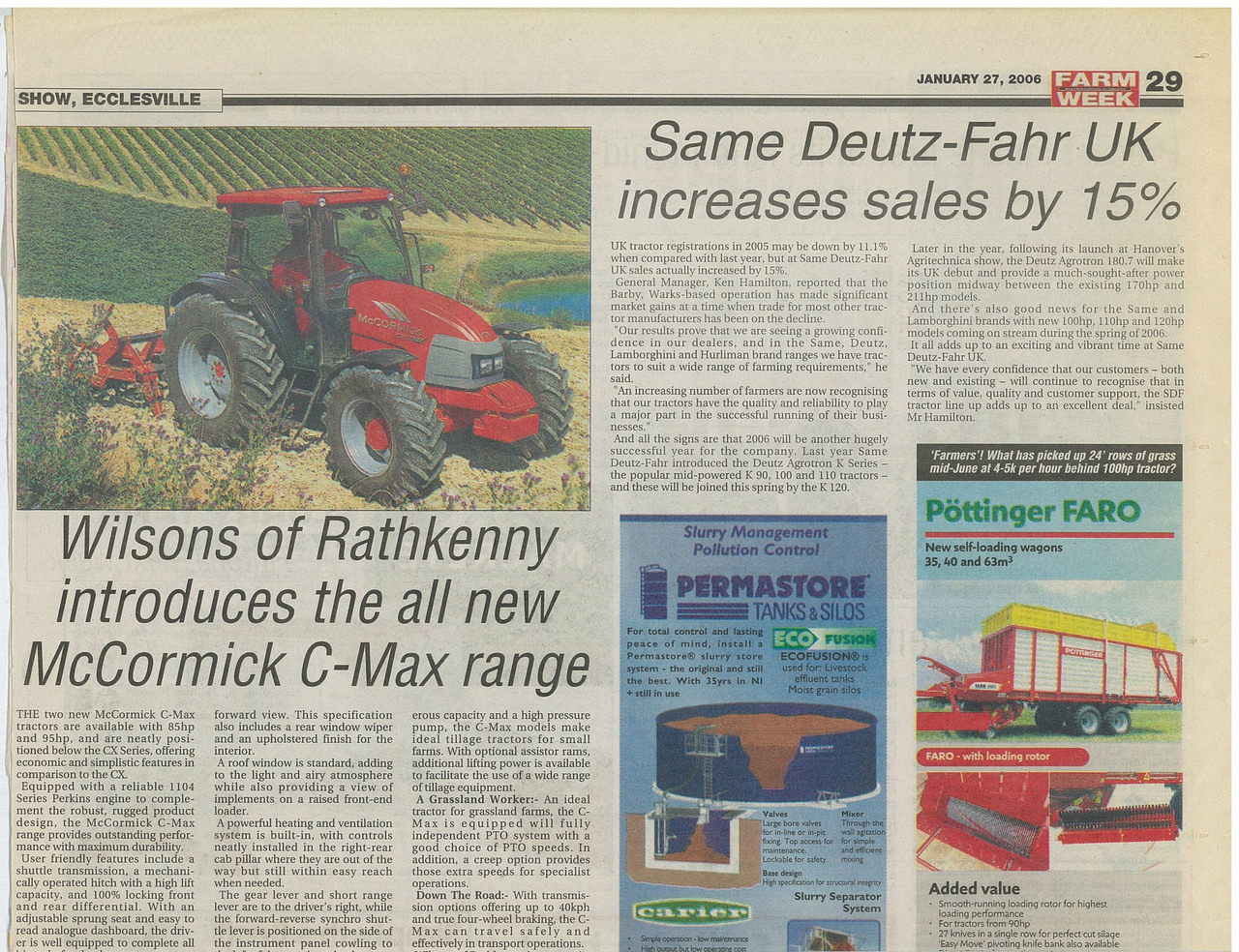 SAME Deutz Fahr UK increases sales by 15%