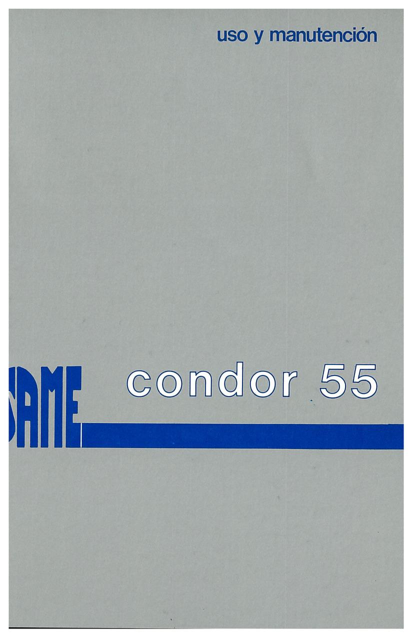 CONDOR 55 - Uso y manutencion