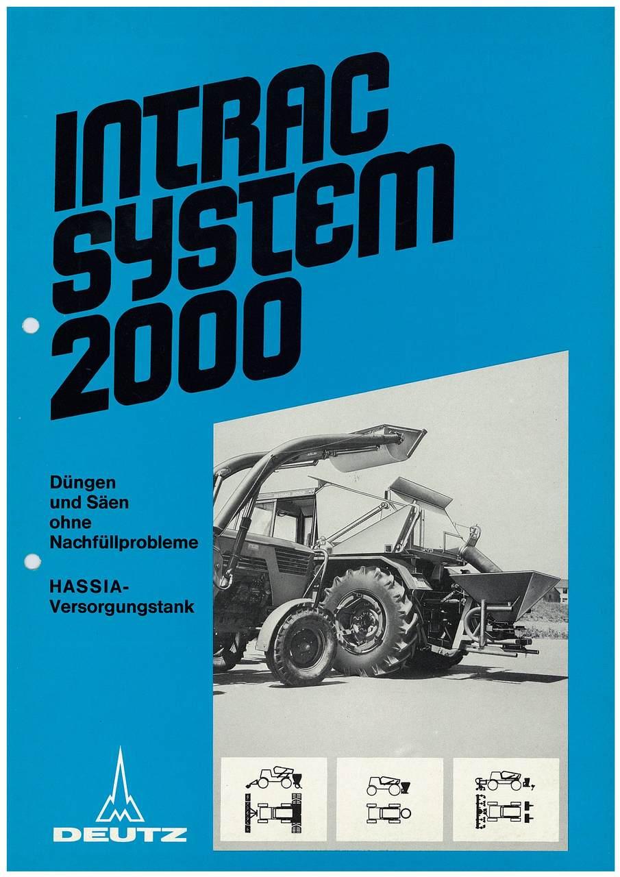 INTRAC SYSTEM 2000 DÜNGEN UND SÄEN OHNE NACHFÜLLPROBLEME