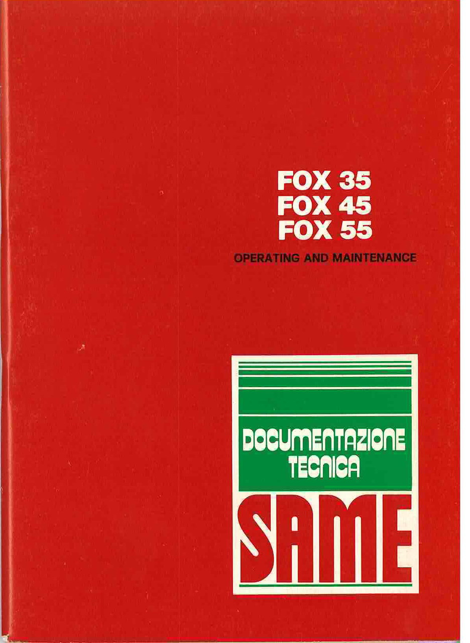 FOX 35 - 45 - 55 - Operating and maintenance