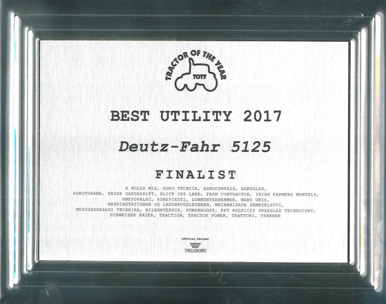Tractor Of The Year - Best Utility 2017 - Deutz-Fahr 5125 - Finalist