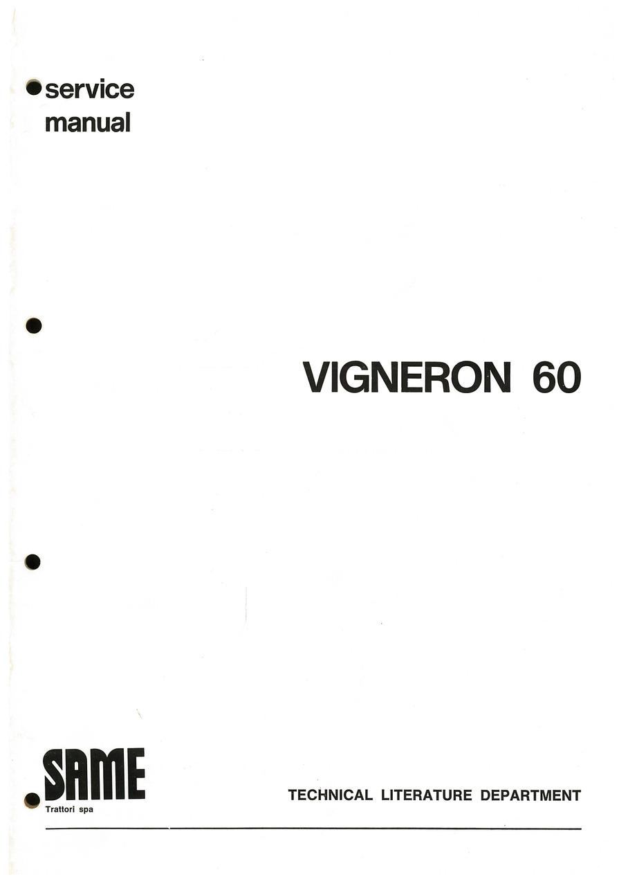 VIGNERON 60 - Workshop manual