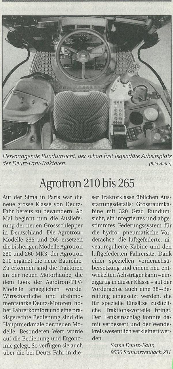 Agrotron 210 bis 265