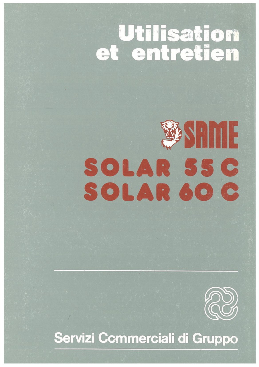 SOLAR 55 C - 60 C - Utilisation et entretien
