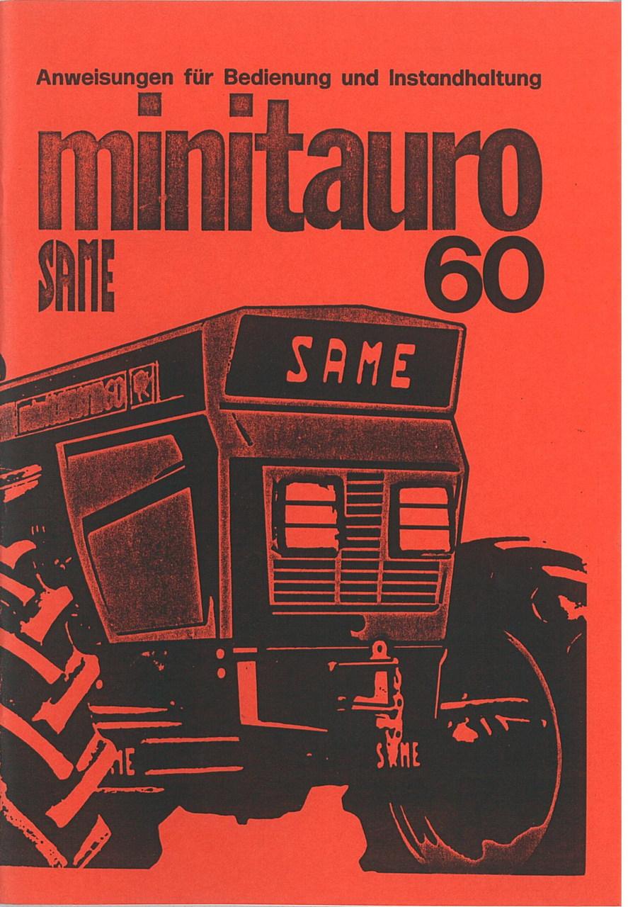 MINITAURO 60 - Bedienung und instandhalthung