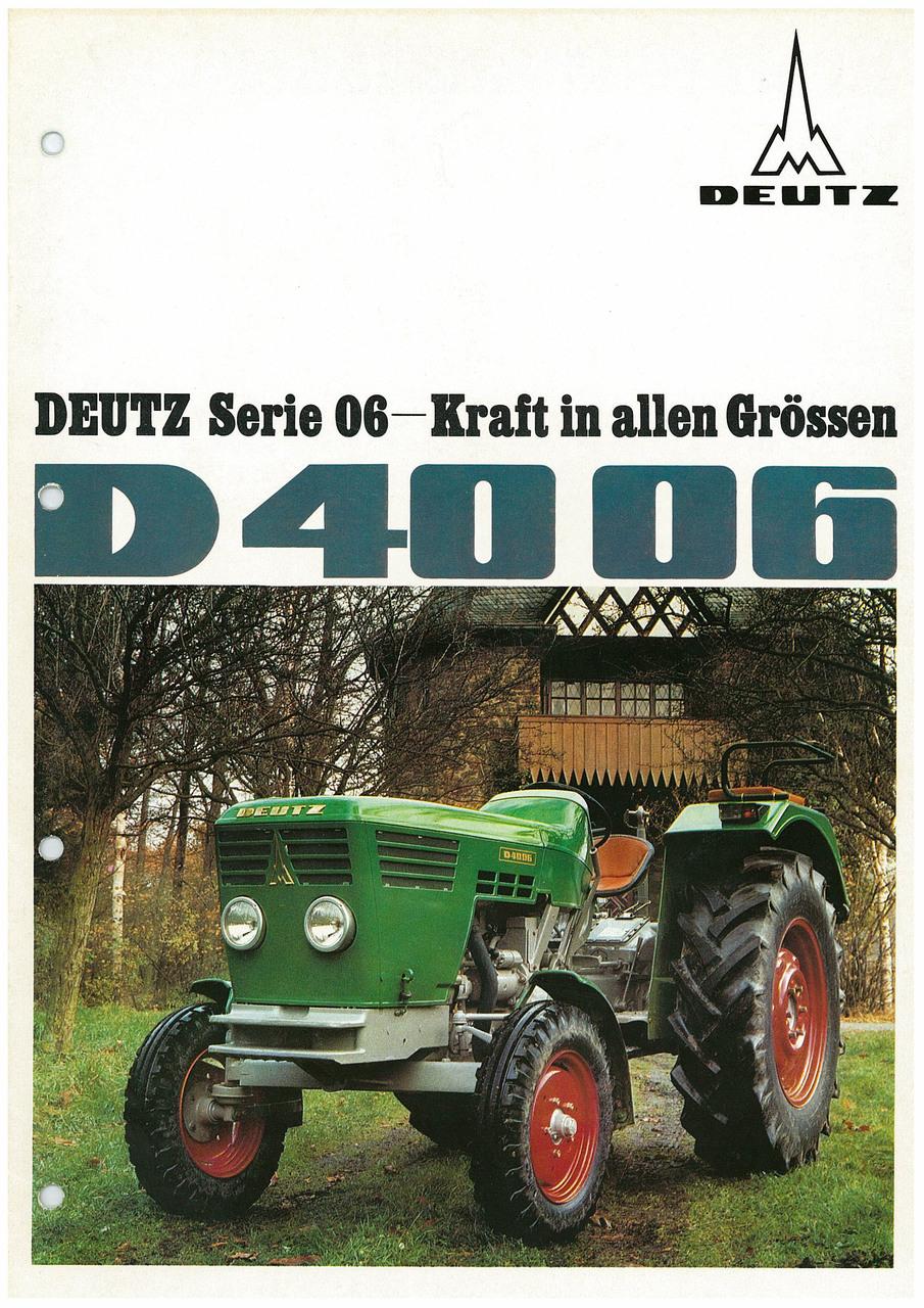 DEUTZ D4006 - KRAFT IN ALLEN GRÖSSEN