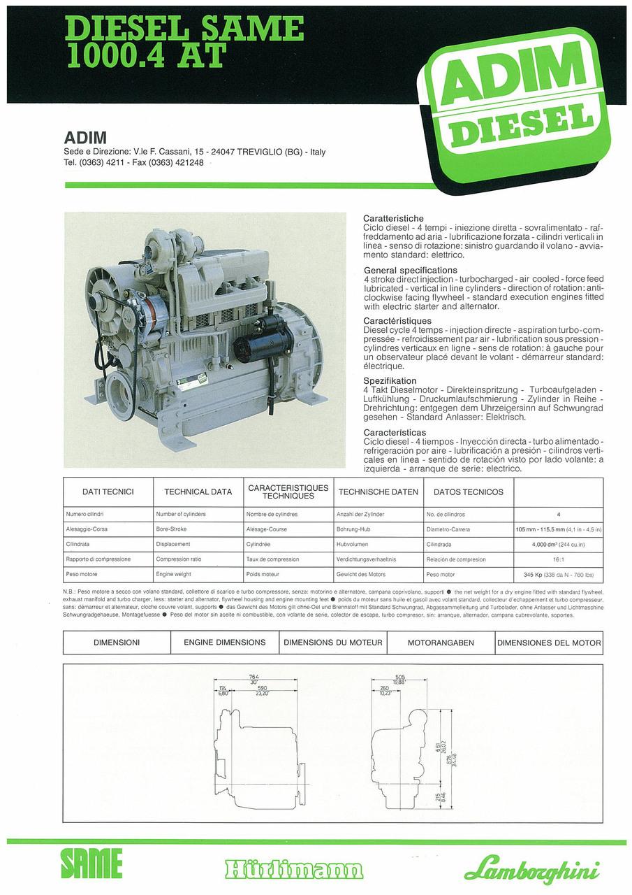 Motore 1000.4 AT