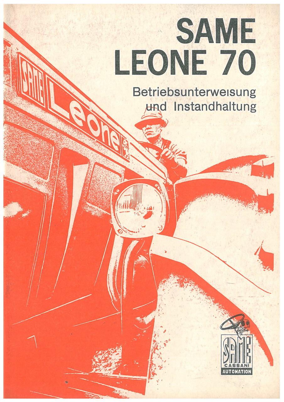 SAME LEONE 70 - Bedienung und wartung