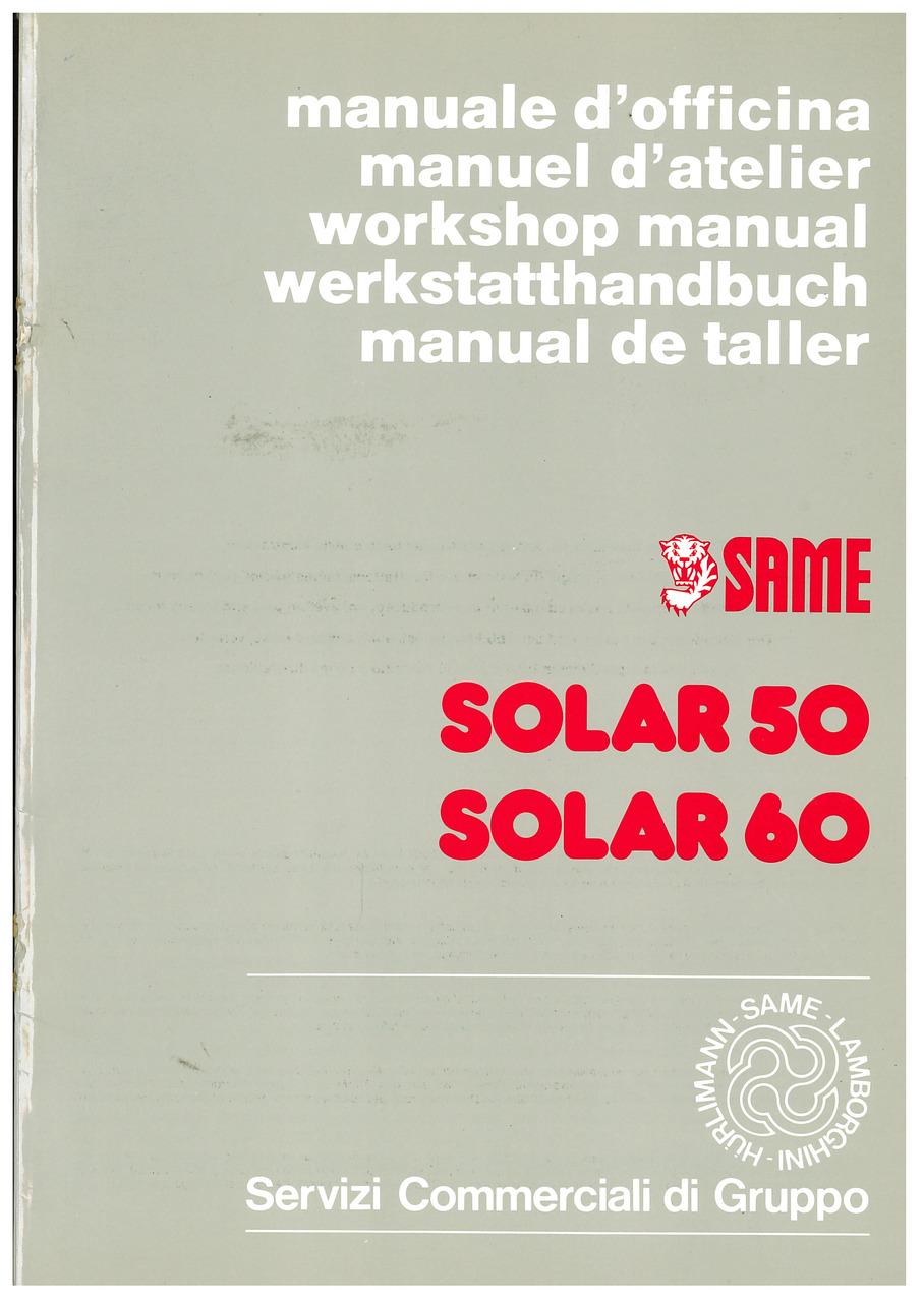 SOLAR 50-60 - Werkstatthandbuch