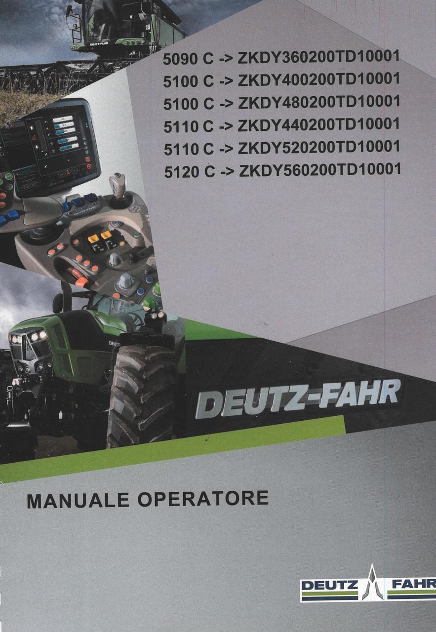5090 C ->ZKDY360200TD10001 - 5100 C ->ZKDY400200TD10001 - 5100 C ->ZKDY480200TD10001 - 5110 C ->ZKDY440200TD10001 - 5110 C ->ZKDY520200TD10001 - 5120 C ->ZKDY560200TD10001 - Manuale operatore