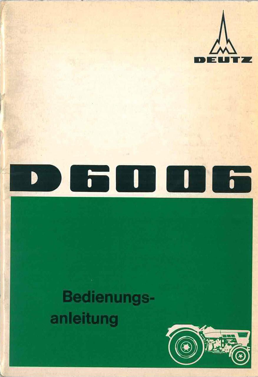 D 60 06 Bedinungsanleiting