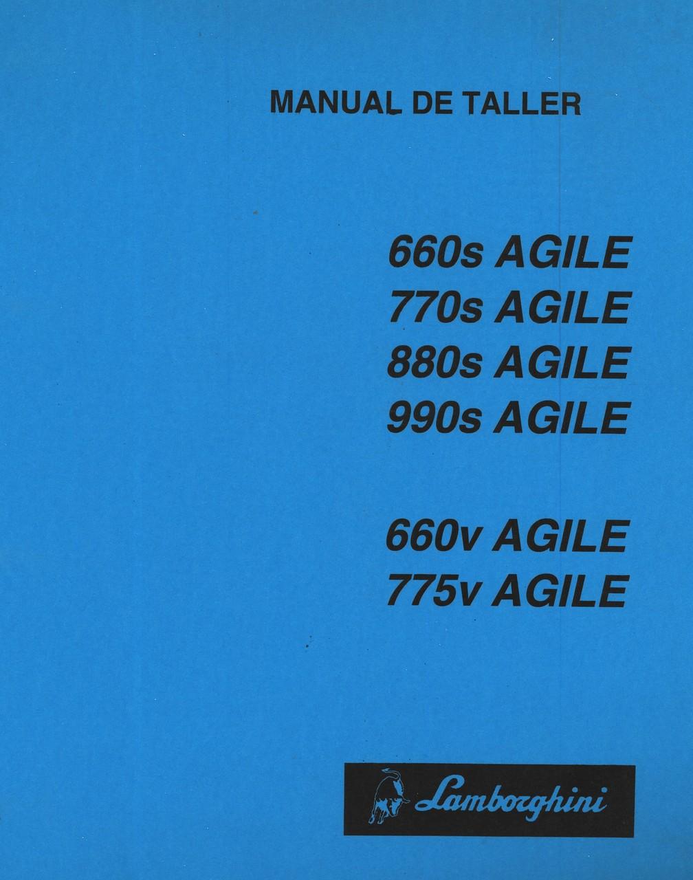 660s AGILE - 770s AGILE - 880s AGILE - 990s AGILE - 660v AGILE - 775V AGILE - Manual de taller
