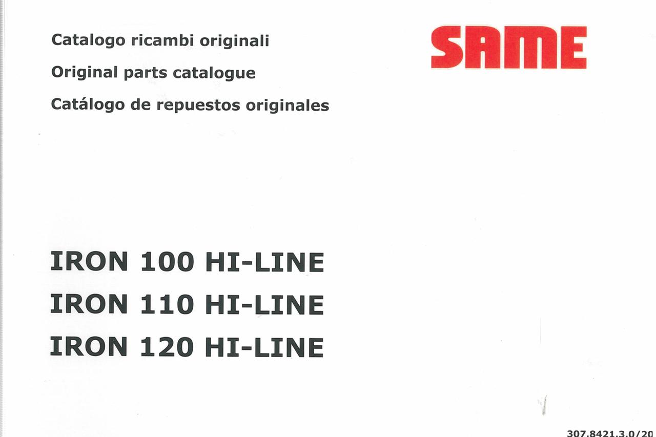 IRON 100 HI-LINE - IRON 110 HI-LINE - IRON 120 HI-LINE - Catalogo ricambi originali / Original parts catalogue / Catalogo de repuestos originales