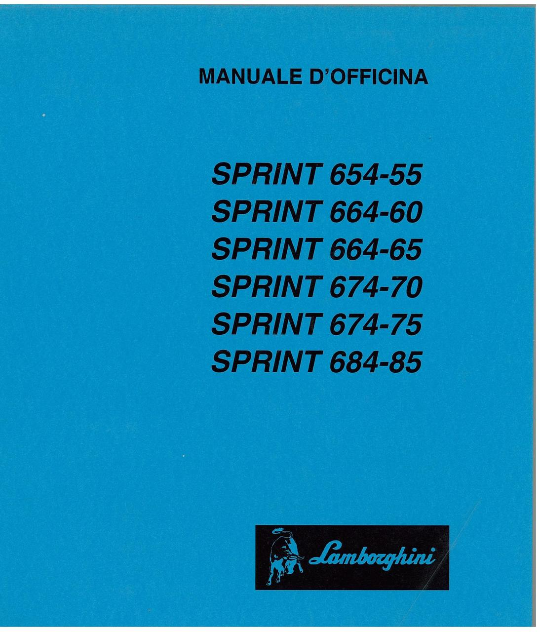 SPRINT 654.55 - 664.60 - 664.65 - 674.70 - 674.75 - 684.85 - Manuale d'Officina