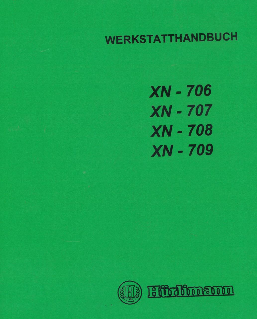 XN 706 - 707 - 708 - 709 - Werkstatthandbuch