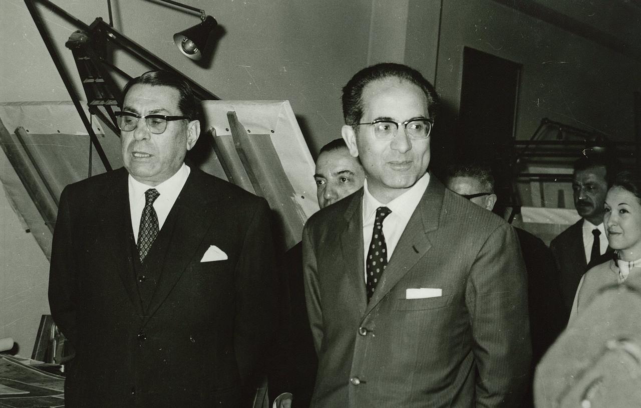 Visita allo stabilimento del Ministro del Tesoro Emilio Colombo
