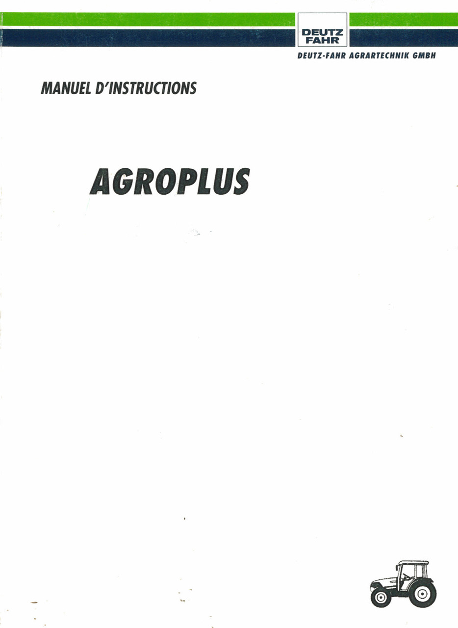 AGROPLUS 60-70 - Manuel d'instructions