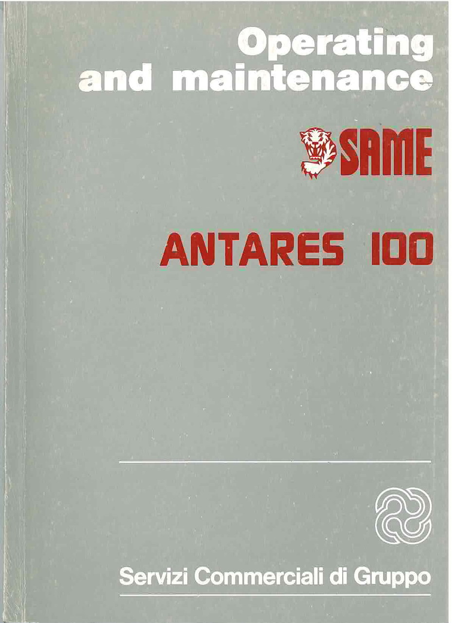 ANTARES 100 - Operating and maintenance