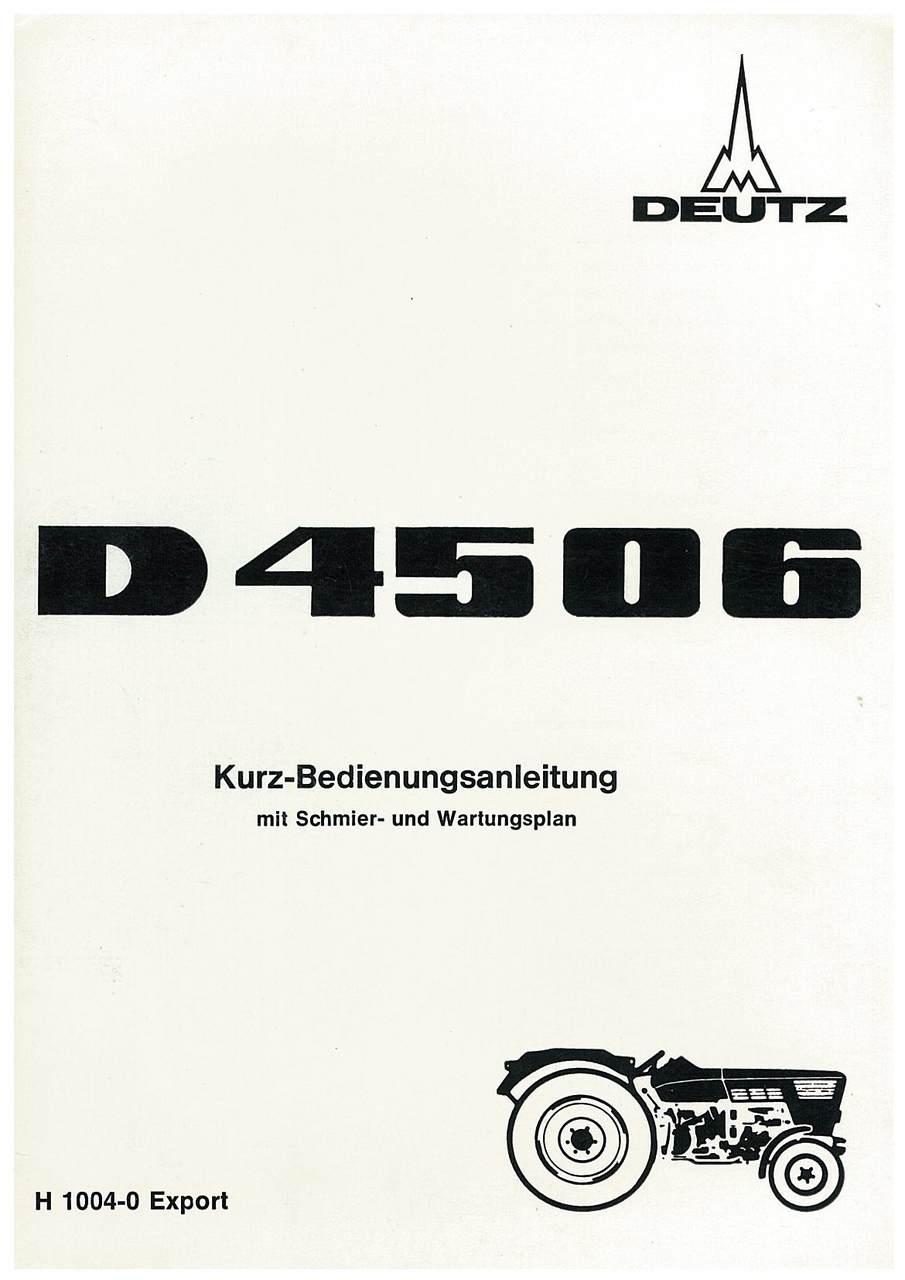 D 45 06 - Kurz- Bedienungsanleitung mit Schmier und Wartungsplan
