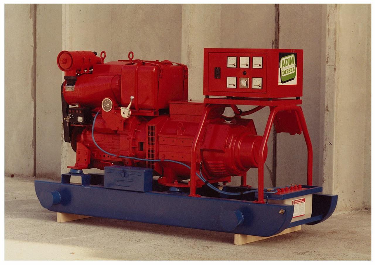 Motore 3 cilindri e gruppo elettrogeno ADIM