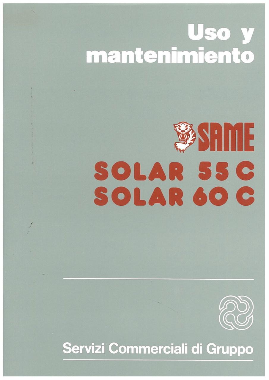 SOLAR 55 C - 60 C - Uso y manutencion