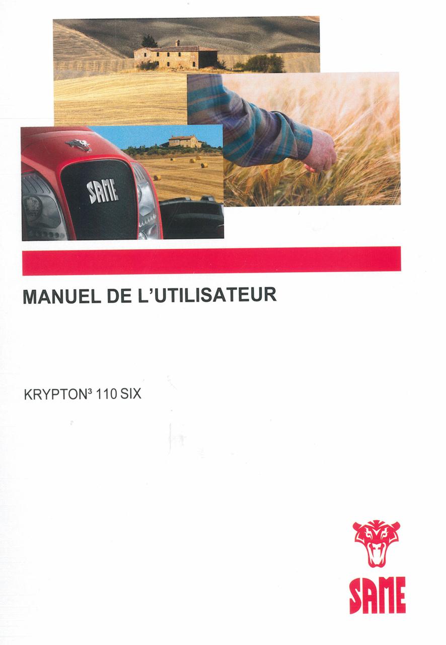 KRYPTON³ 110 SIX - Manuel de l'utilisateur