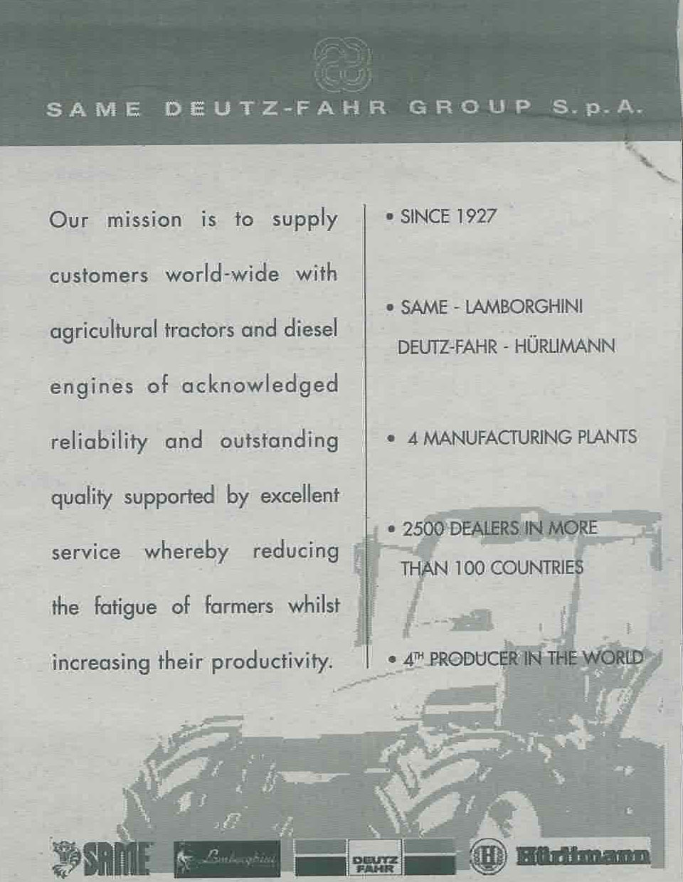 Same Deutz- Fahr Group S.p.a.