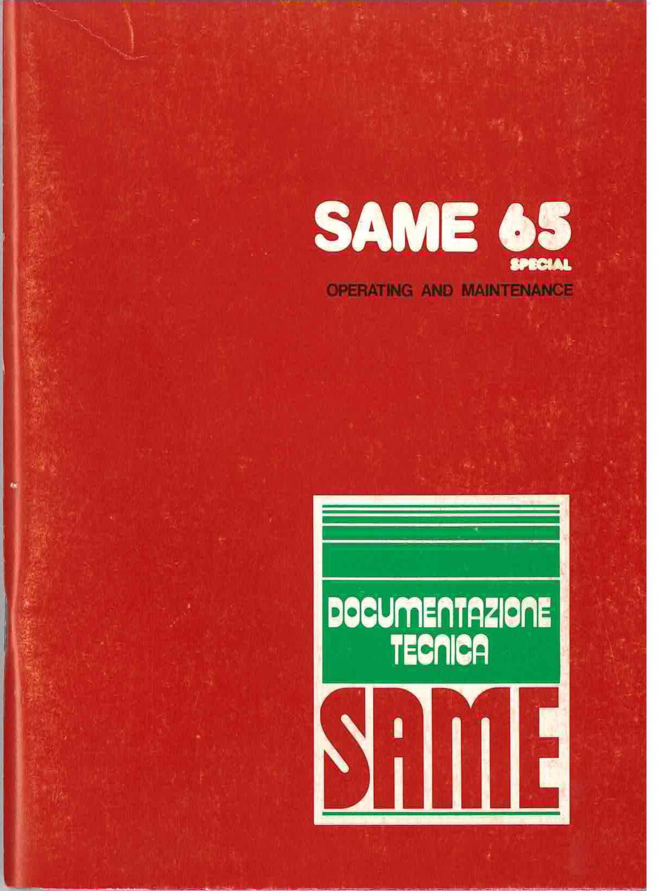 SAME 65 SPECIAL - Operating and maintenance