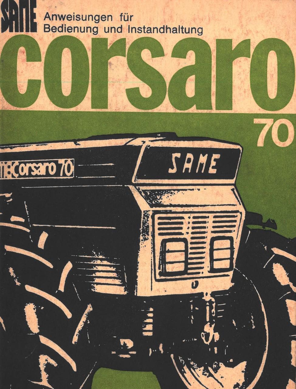 CORSARO 70 - Bedienung und Instandhaltung