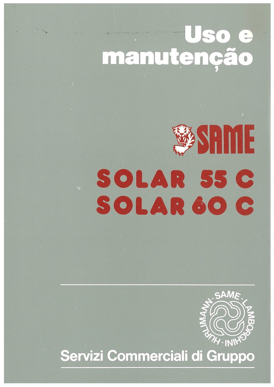 SOLAR 55 C - SOLAR 60 C - Uso e Manutençao