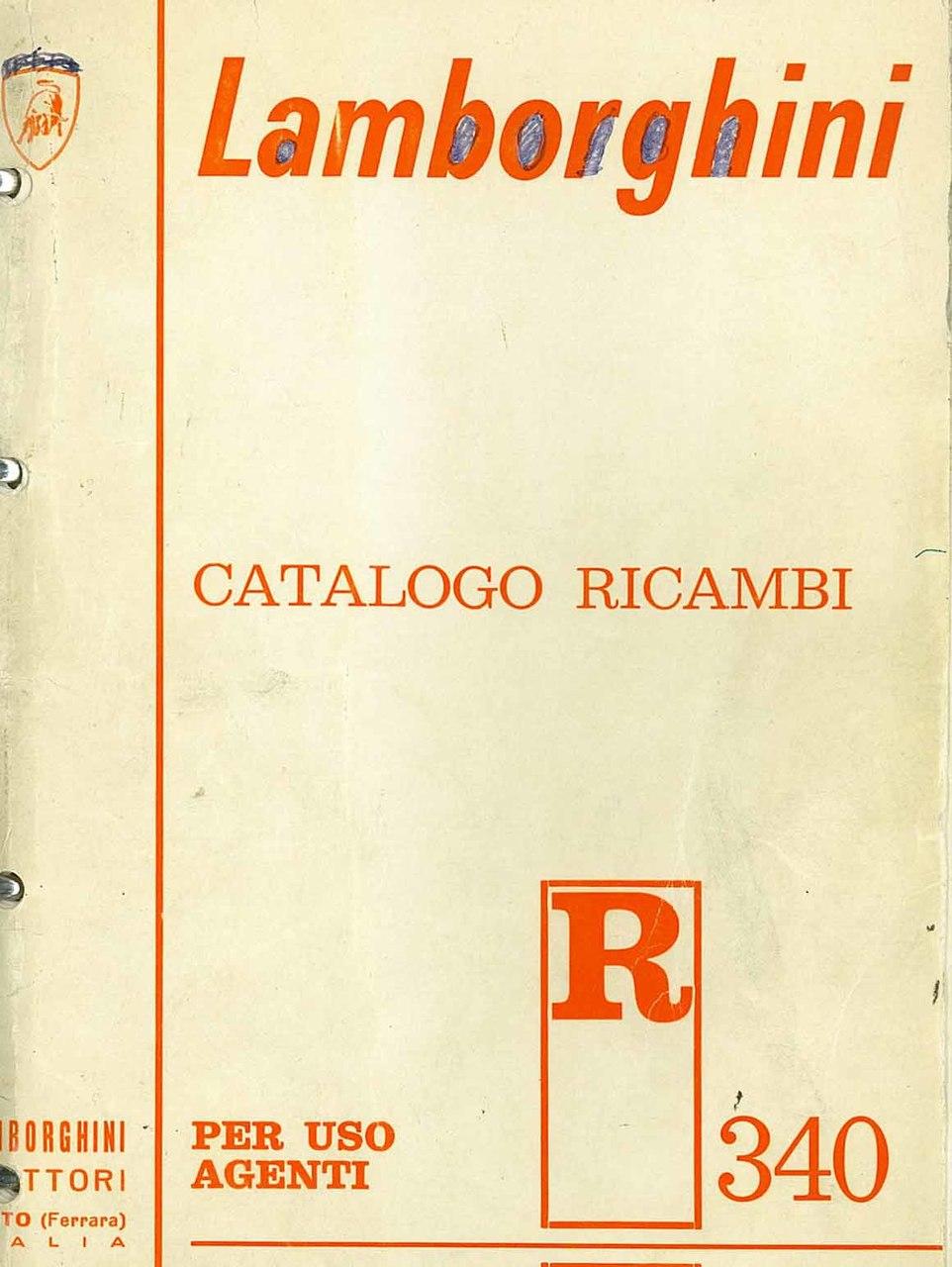 R 340 - Catalogo Parti di Ricambio