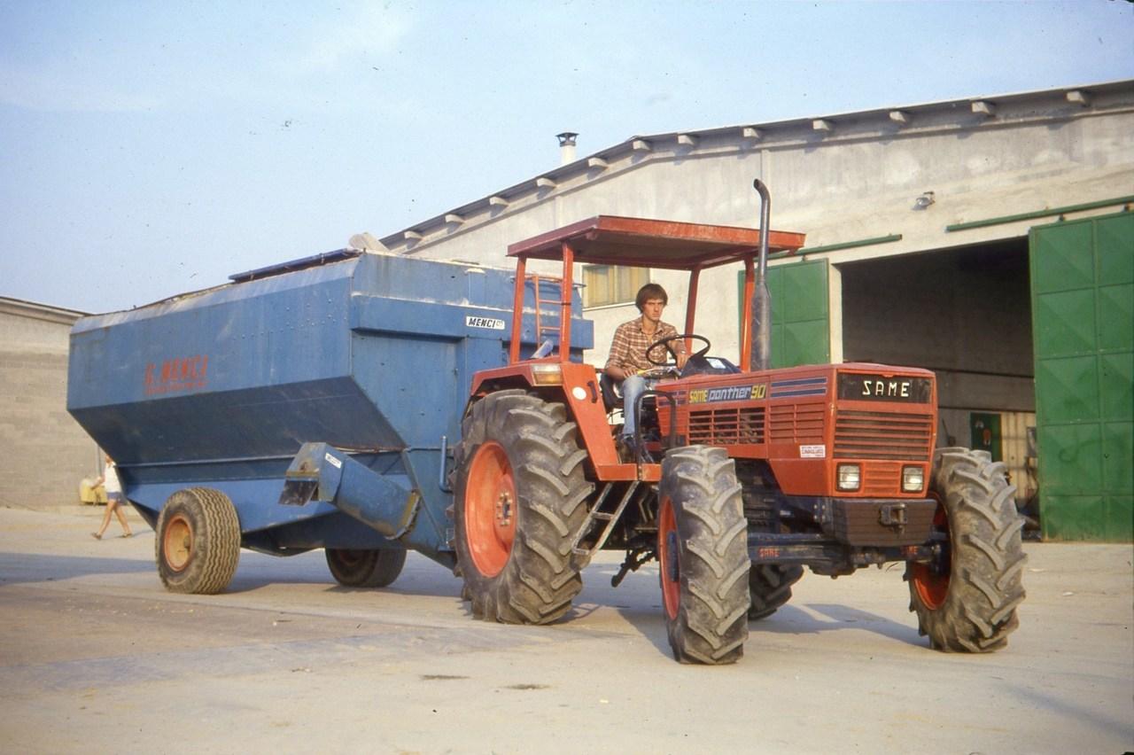 [SAME] trattore Panther 90 con rimorchio