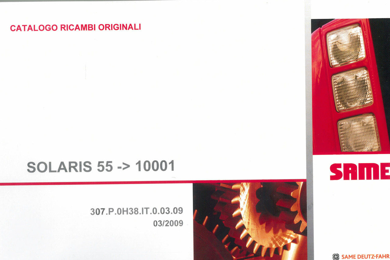 SOLARIS 55 ->10001 - Catalogo ricambi originali