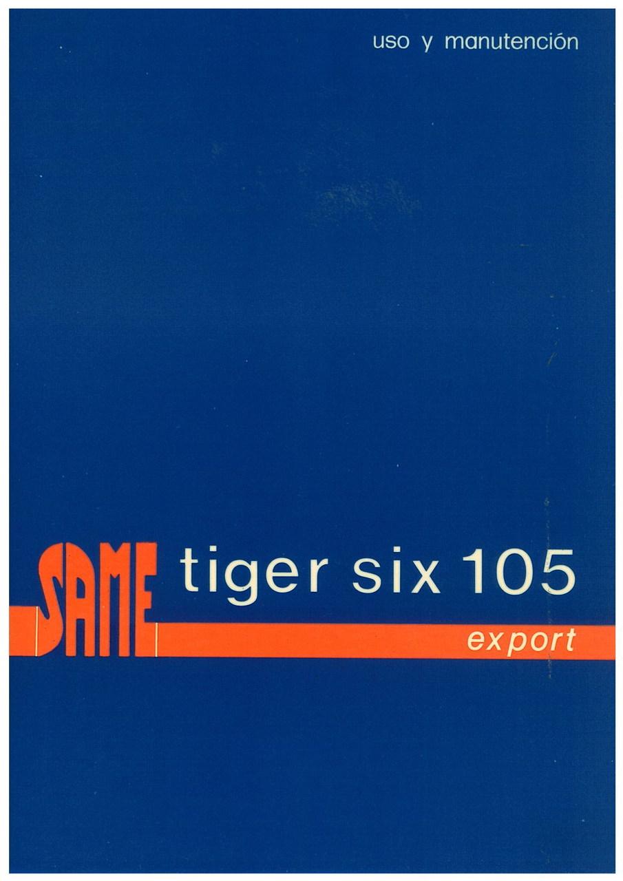 TIGER SIX 105 EXPORT - Uso y manutencion