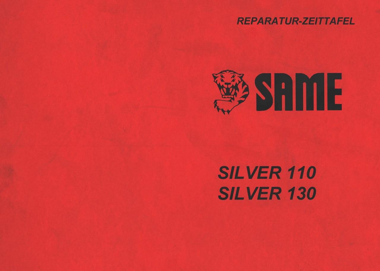 SILVER 110 - SILVER 130 - Reparatur-Zeittafel