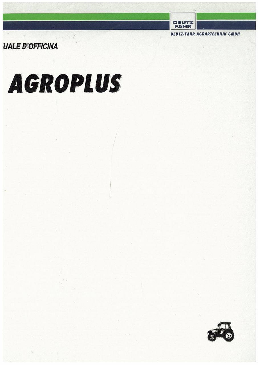 AGROPLUS 60-70 - Manuale d'officina