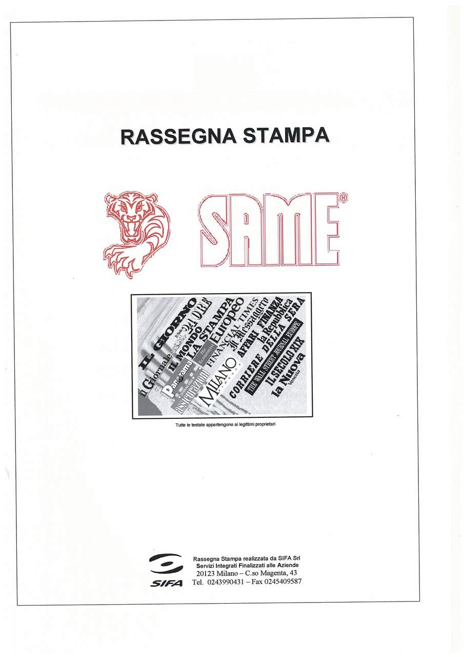 Rassegna Stampa Same 2004