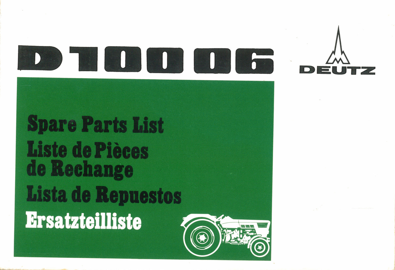 D 10006 - Erstatzteilliste / Spare parts list / Liste de pièces de rechange / Lista de repuestos