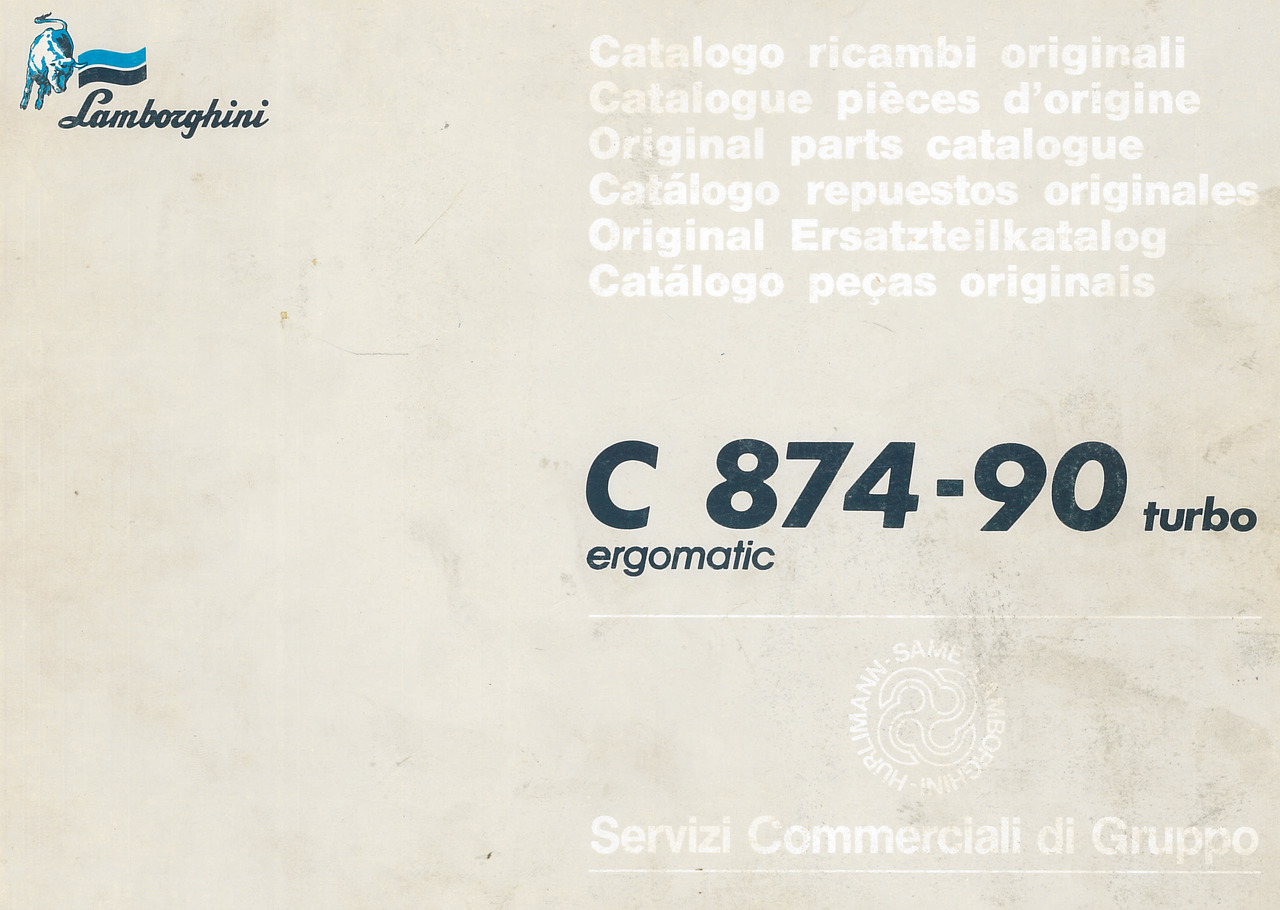 C 874-90 TURBO ERGOMATIC - Catalogo ricambi originali / Catalogue pièces d'origine / Original parts catalogue / Catàlogo repuestos originales / Original Ersatzteilkatalog / Catàlogo pecas originais